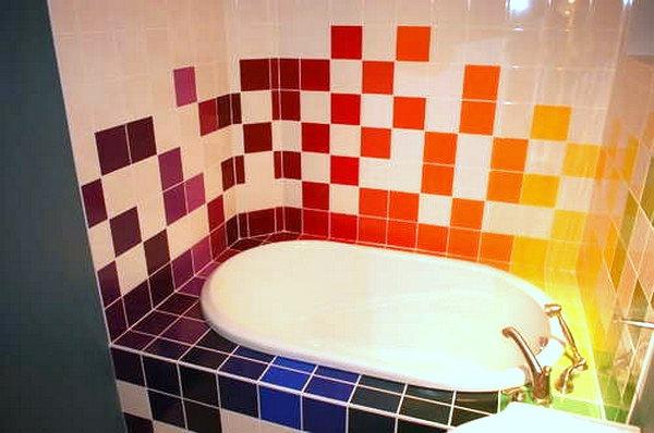 Керамическая плитка, как вариант отделки ванной комнаты.