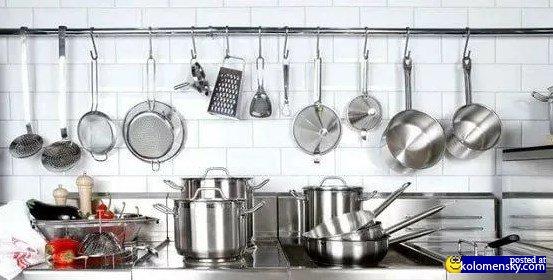 Кухонная посуда из специальной стали очень хороша